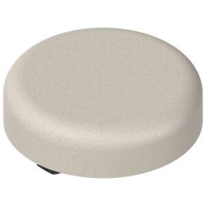 Pokrivna kapica za spojnice za staklena vrata oblik okrugla, poniklano mat