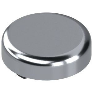 Pokrivna kapica za spojnice za staklena vrata oblik okrugla, kromirano