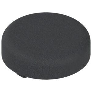 Pokrivna kapica za spojnice za staklena vrata oblik okrugla, crno