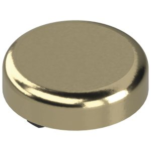 Pokrivna kapica za spojnice za staklena vrata oblik okrugla, pozlaćeno