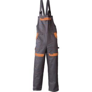 Radne   farmer hlače COOL TREND sivo-narančaste