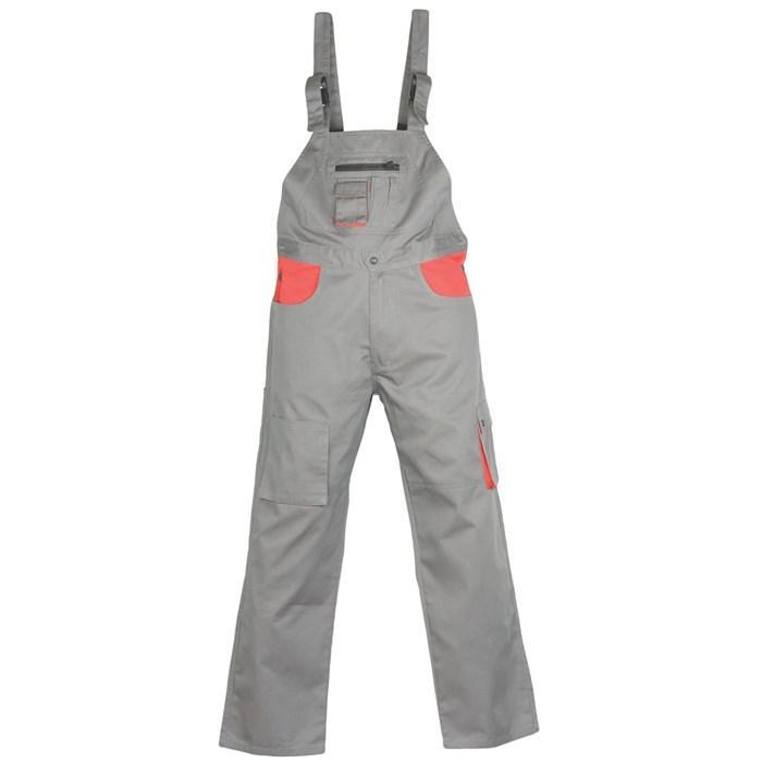 Radne   farmer hlače CLASSIC PLUS sivo/crvene