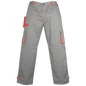 Radne   hlače CLASSIC PLUS sivo/crvene