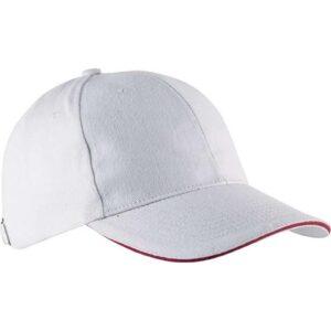 Kapa šilt Orlando bijela/crvena