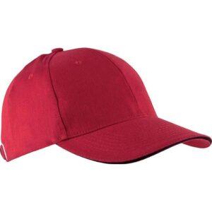 Kapa šilt Orlando crvena/crna